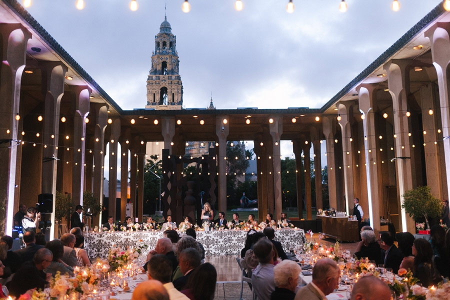 modern san diego museum of art wedding
