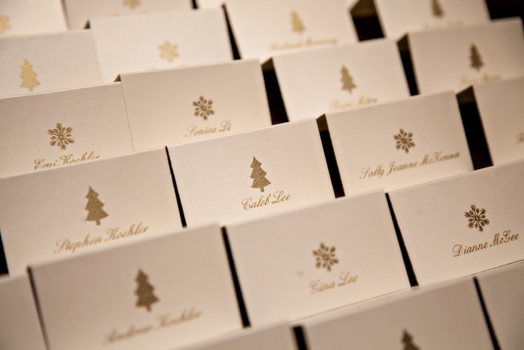 holiday escort cards